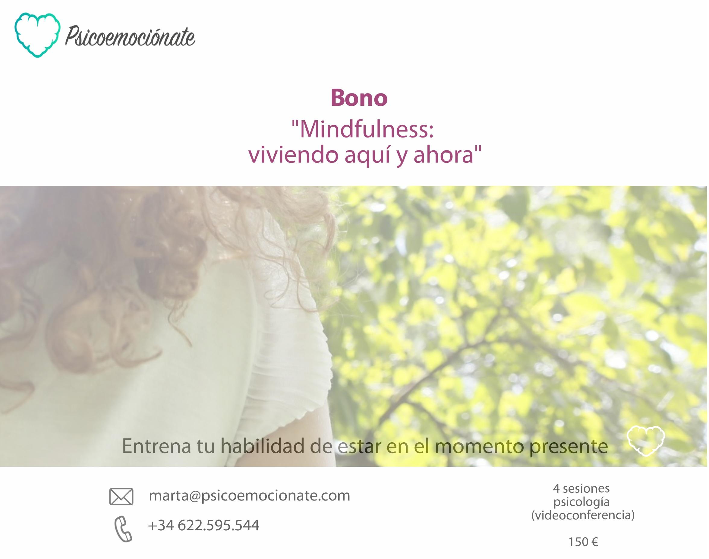 mindfulness psicologia online bonos