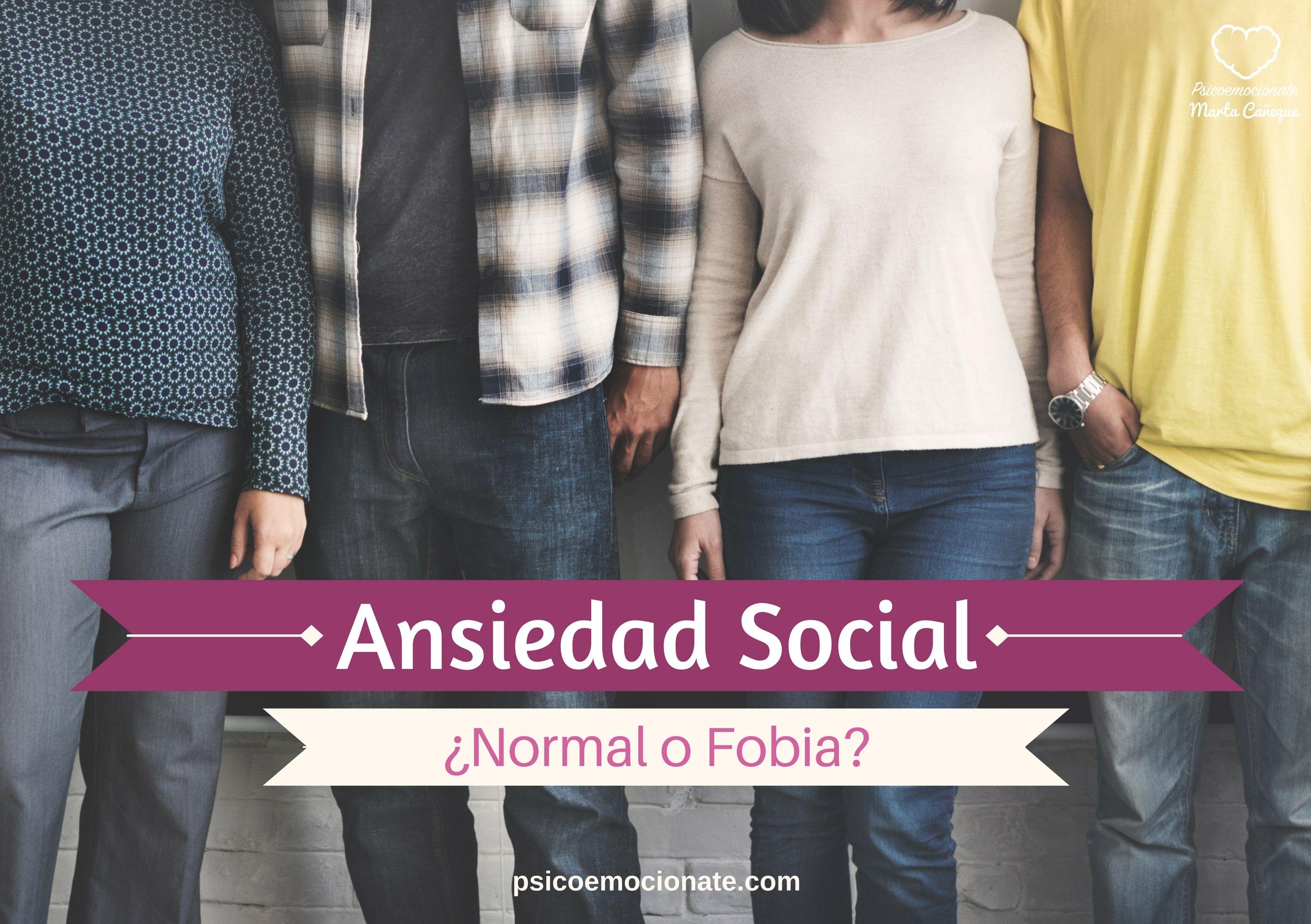 Ansiedad Social o Fobia Social Psicoemocionate
