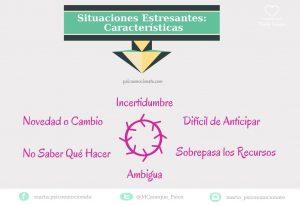 Situaciones Estresantes infografia Psicoemocionate
