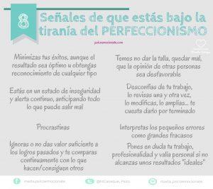 Perfeccionismo Infografía Psicoemociónate